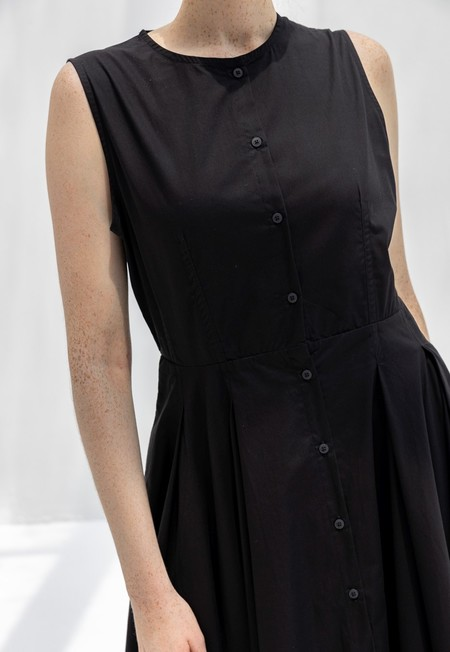 KOWTOW REFLECT DRESS - BLACK POPLIN