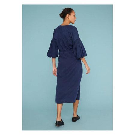Raquel Allegra Bell Sleeve Dress - Navy