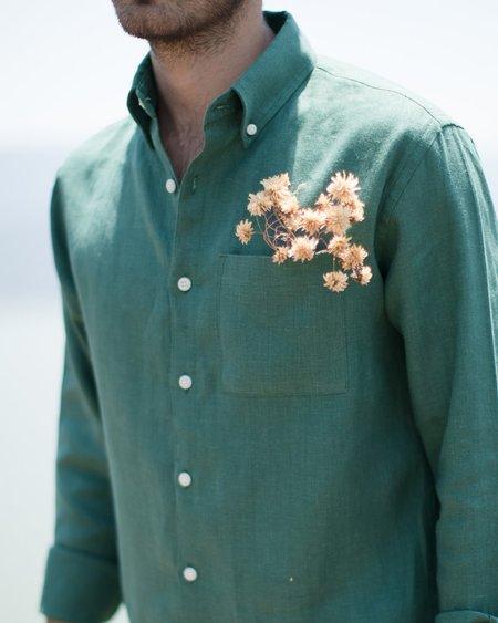 Alex Crane Playa Button Up - Pine