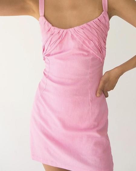 Tach Clothing Maral Linen Dress - Pink