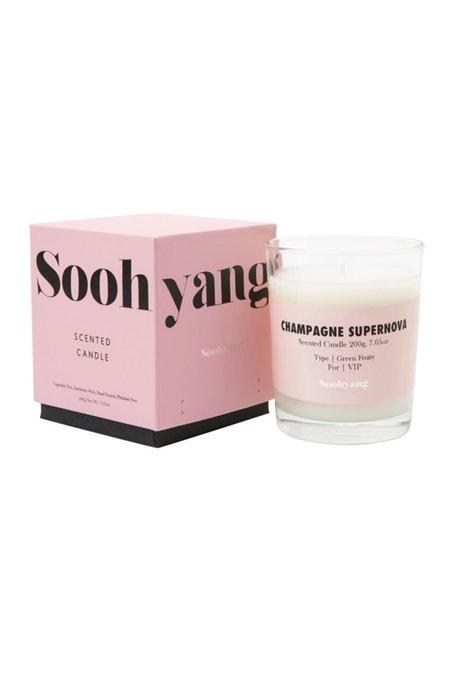 Soohyang Champagne Supernova Candle