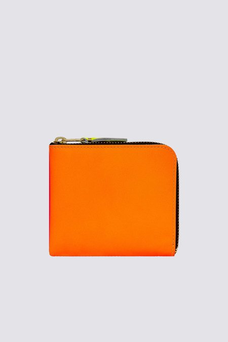 Comme des Garçons SA-3100SF Super Fluo Half Zip Wallet - Orange/Pink