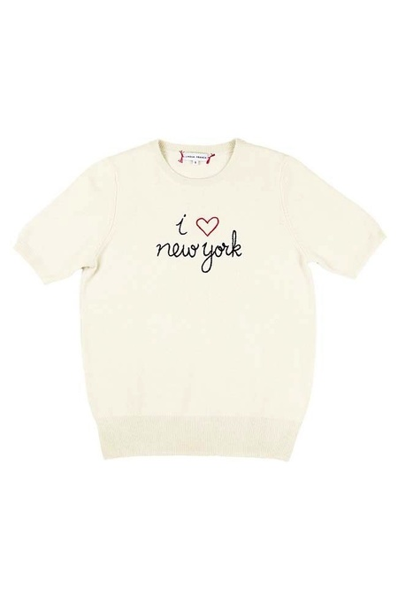 Lingua Franca I Heart New York Short Sleeve - Cream