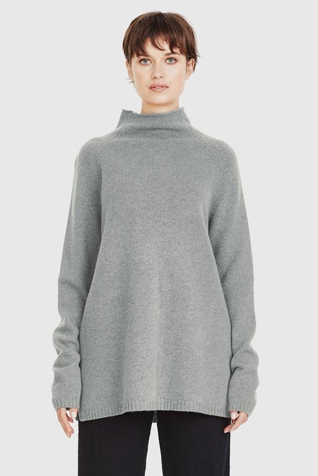 COMMONERS Funnel Knit Jumper - Woodash