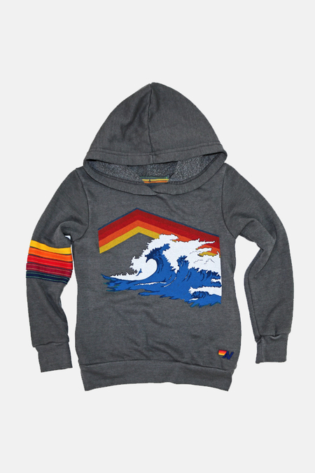Kids Aviator Nation Mountain Wave Hoodie - Vintage Charcoal