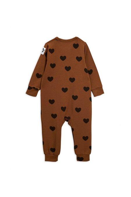 Kids Mini Rodini Hearts Jumpsuit - Brown