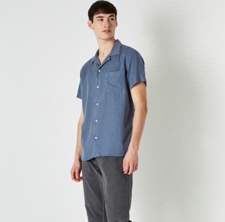Wax London Fazely SS Shirt - Folkestone Grey