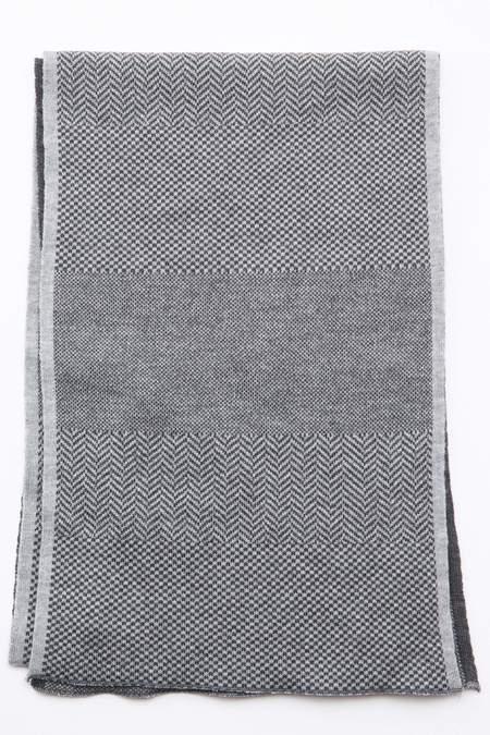 Engineered Garments Wool Herringbone Knit Scarf - Grey