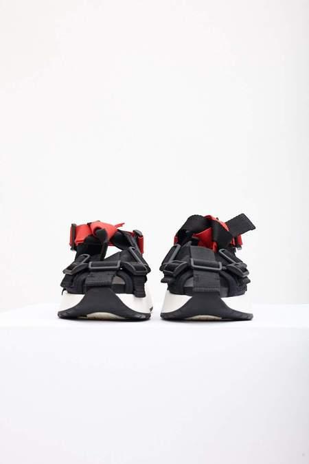 MM6 Maison Margiela Safety Strap Platform Sandals - Black/Red
