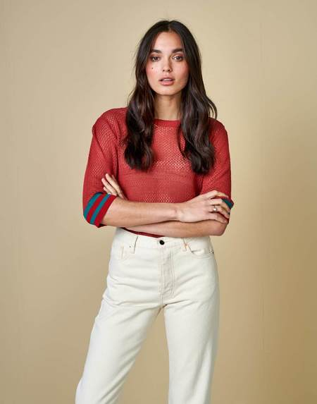 Bellerose Dohy Sweater Tee - Red Dahlia