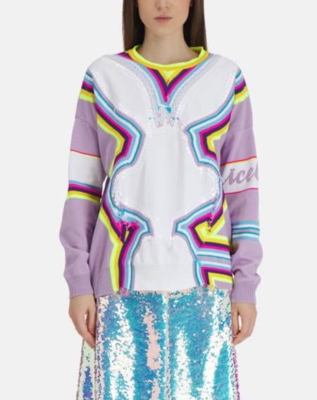 Iceberg Bunny Sweater - Neon Stripe