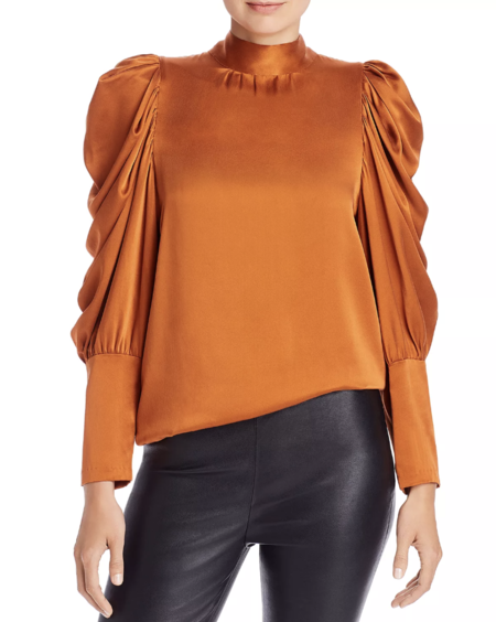 Notes du Nord Missy Silk Blouse - Orange