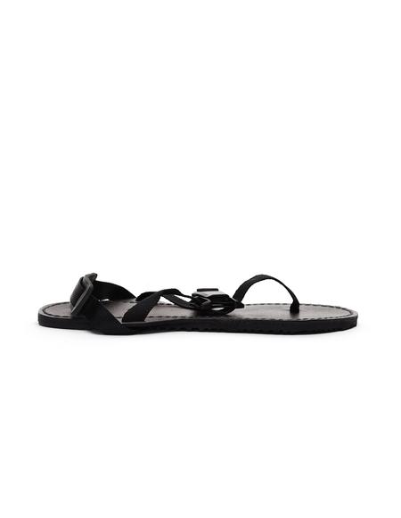 Hender Scheme Devise Strap Leather Sandal - Black