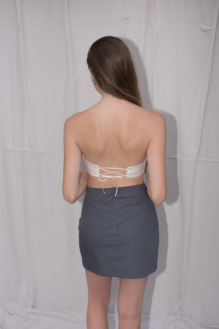 August Market Mini Cutout Skirt - Grey