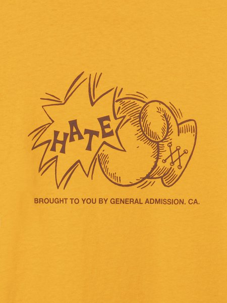 General Admission Sock Hate Tee - Gold