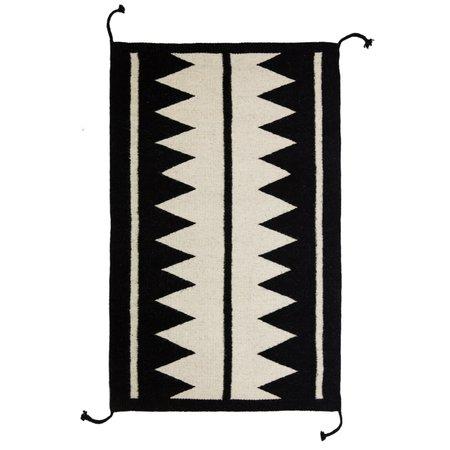Archive New York Zapotec Rug - Black/Ivory