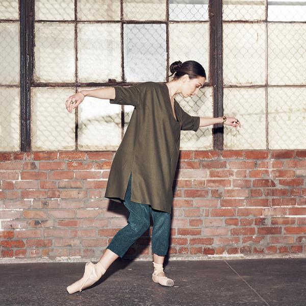 Ali Golden RAW SILK KIMONO TUNIC - GREY