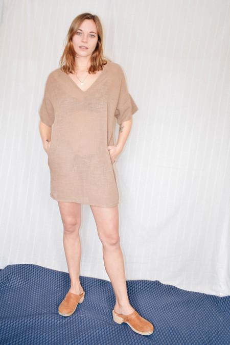Conrado Bailey Tunic Dress - Tan Linen