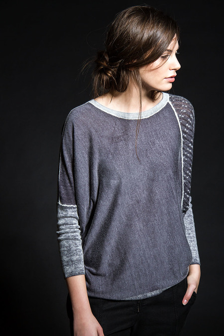 Paychi Guh Cashmere Silk Polygon Pullover Graphite