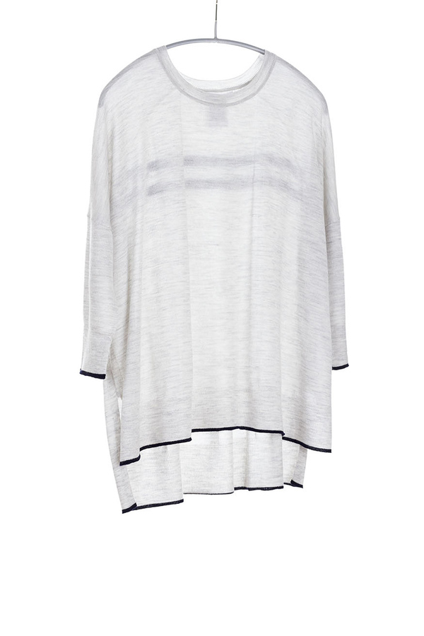 Paychi Guh Cashmere Tipped Tee Dove Grey