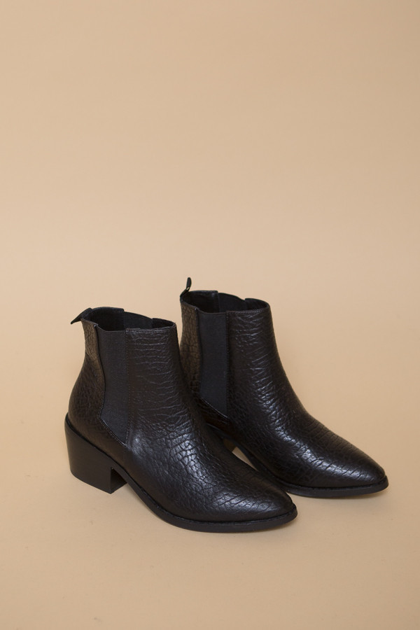 Sol Sana Edgar Boot - Pebbled Black Leather