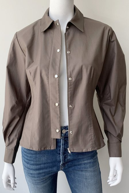 Thakoon Addition Zipper Shirt Jacket - Olive