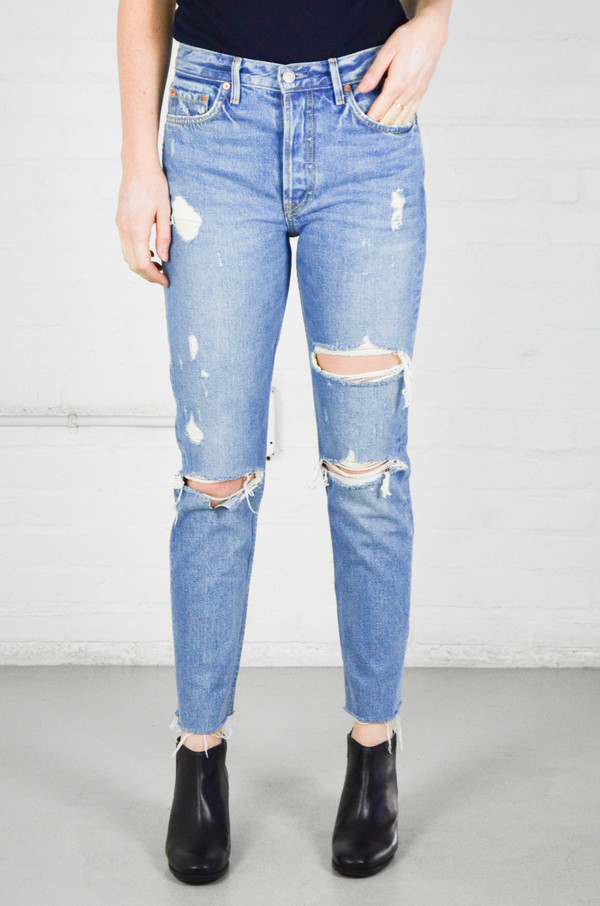 GRLFRND Karolina High-Rise Skinny Jean w/o Back Slit