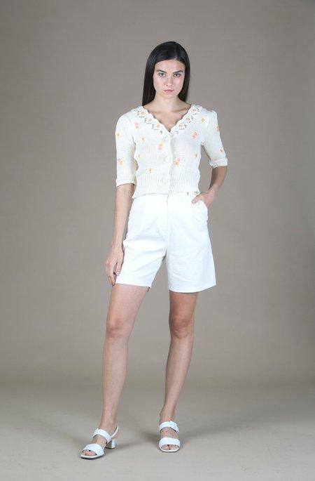 Tach Clothing Linen Bermuda Shorts - Ivory