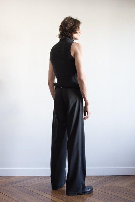 LUDOVIC DE SAINT SERNIN Wool Loose Go To Pants - Black