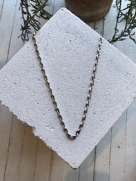 Machete Petite Coffee Bead Necklace - Silver