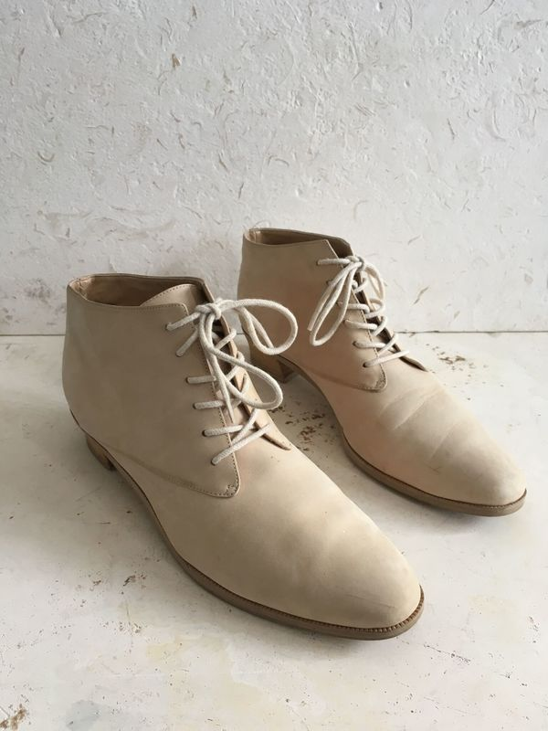 The Shudio Vintage Natural Leather Lace up Ankle Boots (Sz 8.5)