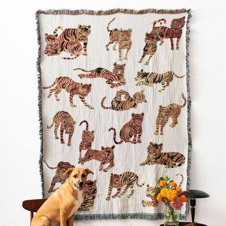 Olivia Wendel Playful Tigers Blanket