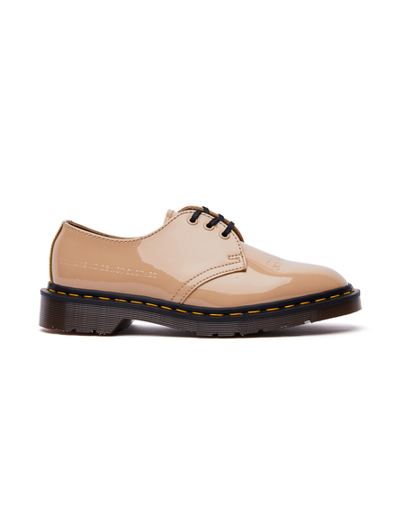UNISEX Undercover Dr.Martens Patent Leather 1461 Boots - BEIGE