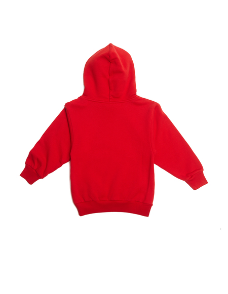 Kids Balenciaga Embroidered Cotton Hoodie - Red