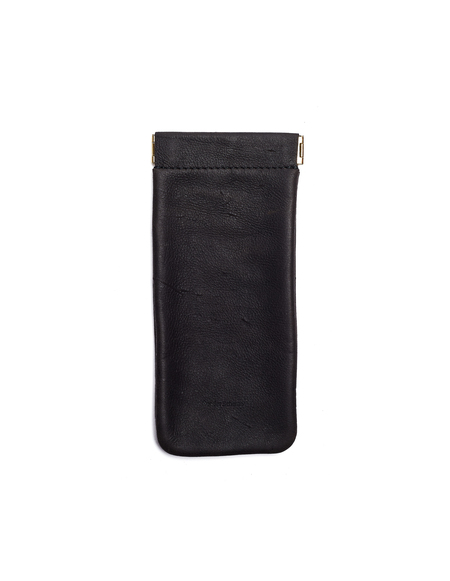 Hender Scheme Leather Soft Glasses Case - Black