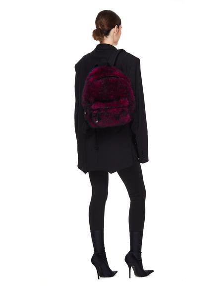 VETEMENTS Pink Shearling Backpack