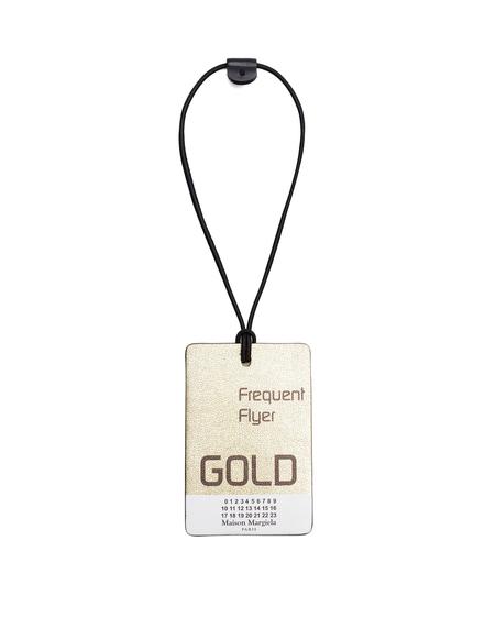 Maison Margiela Flyer Gold Luggage Tag - Golden