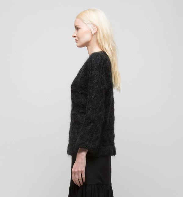 Ryan Roche V-Neck Sweater Black