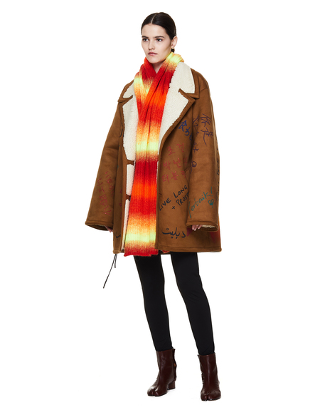 Golden Goose Orange Wool Bland Scarf
