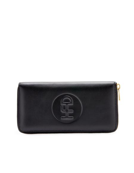 Honey Fucking Dijon Leather Cable Holder - Black