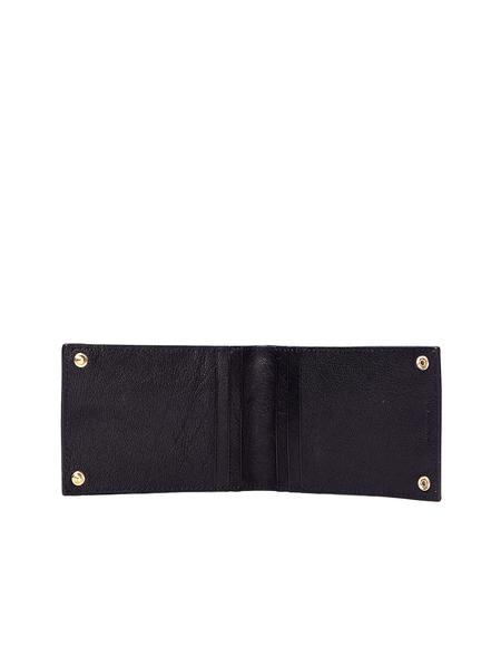 Ugo Cacciatori Leather Buttons Cardholder - Black