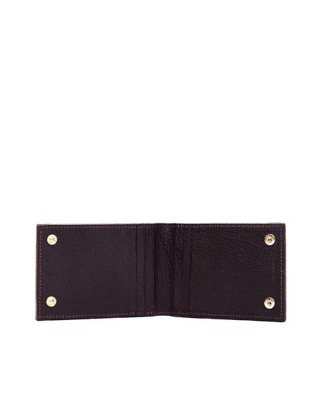 Ugo Cacciatori Grained Leather Buttons Cardholder - Beige
