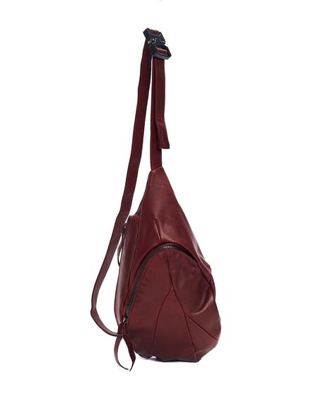 Leon Emanuel Blanck Leather Crossbody Bag - Bordeaux