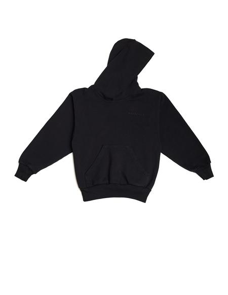 Balenciaga Kids Black Cotton Embroidered Hoodie