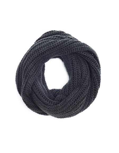 Yohji Yamamoto Grey Wool Snood Scarf