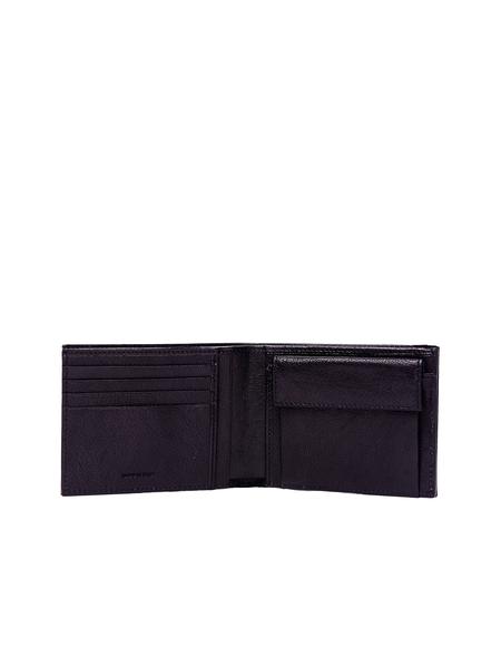 Ugo Cacciatori Grained Leather Pocket Wallet - Black