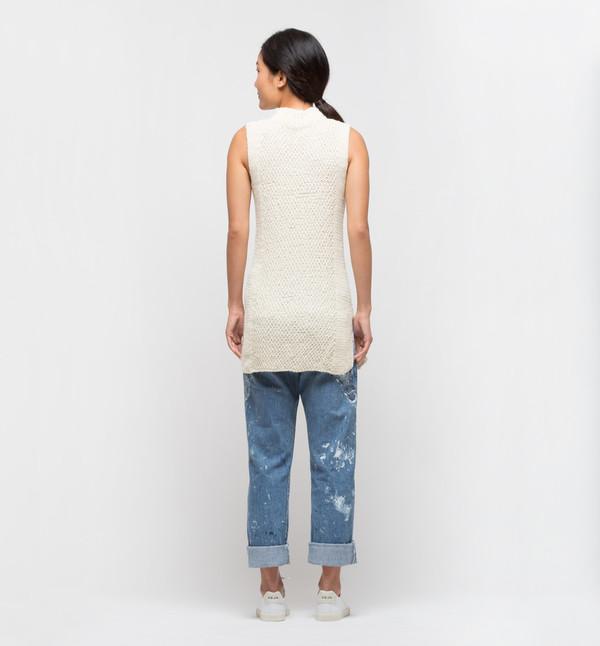 VOZ Textured Mock Neck Ivory