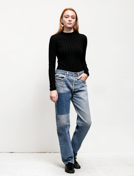 B Sides Womens Patchwork Denim 1/5