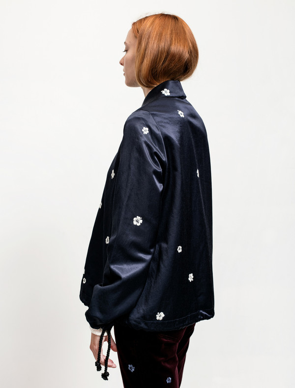 Trademark Reversible Souvenir Jacket Navy