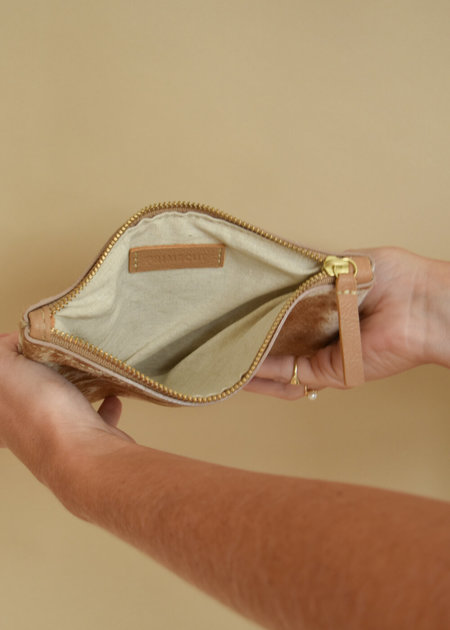 Local Shade Zipper Pouch - Caramel Speckled